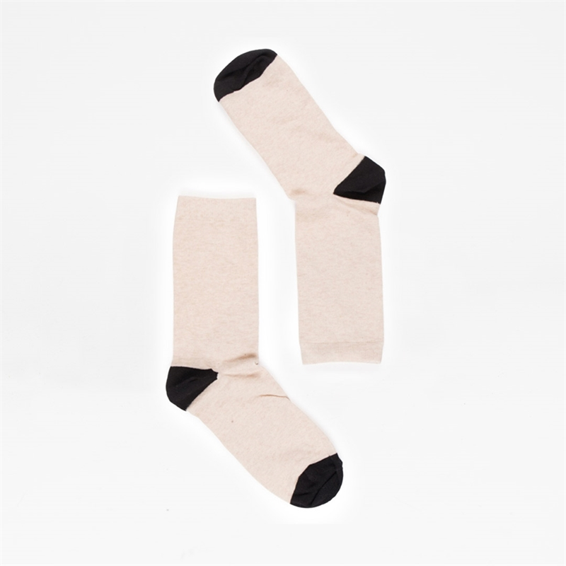 Socks-AW19-Contrast-beige-cotton-1