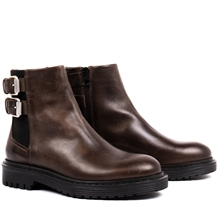 Least-boots-buckles-chelsea-leather-dark-brown-pair
